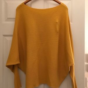 Philosophy dolman sleeve mustard sweater size lg